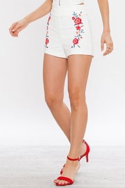 Jealous Tomato Embroidered High Waisted Shorts - Other