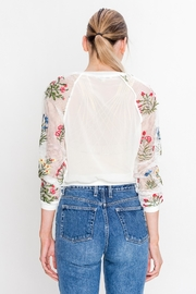 Jealous Tomato Emroidered Bomber Jacket - Back cropped