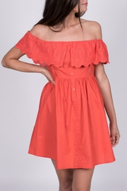 Jealous Tomato Eyelet Off-Shoulder Dress - Product Mini Image