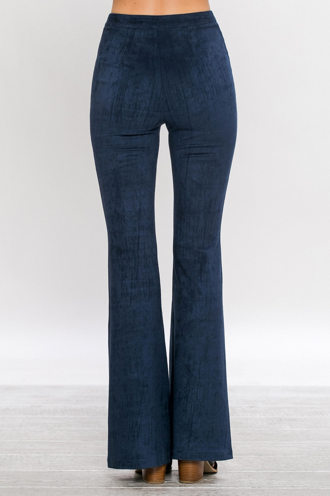 Jealous Tomato Faux Suede Pants - Front Cropped Image