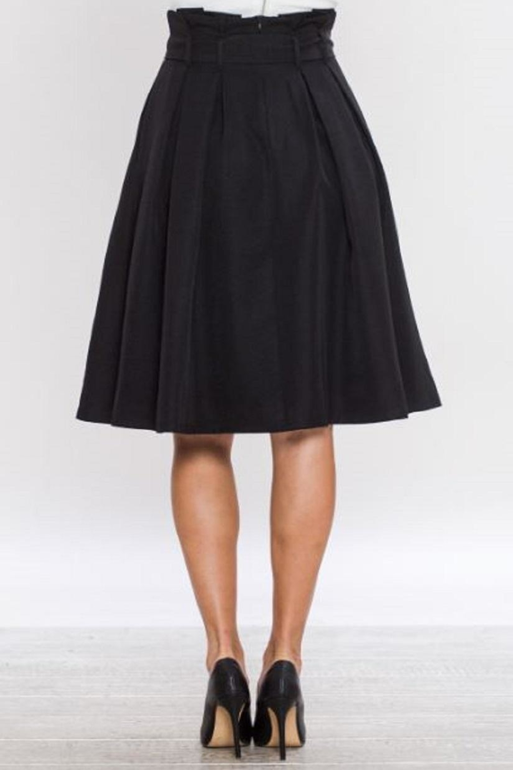 Jealous Tomato Belted A-Line Skirt - Side Cropped Image