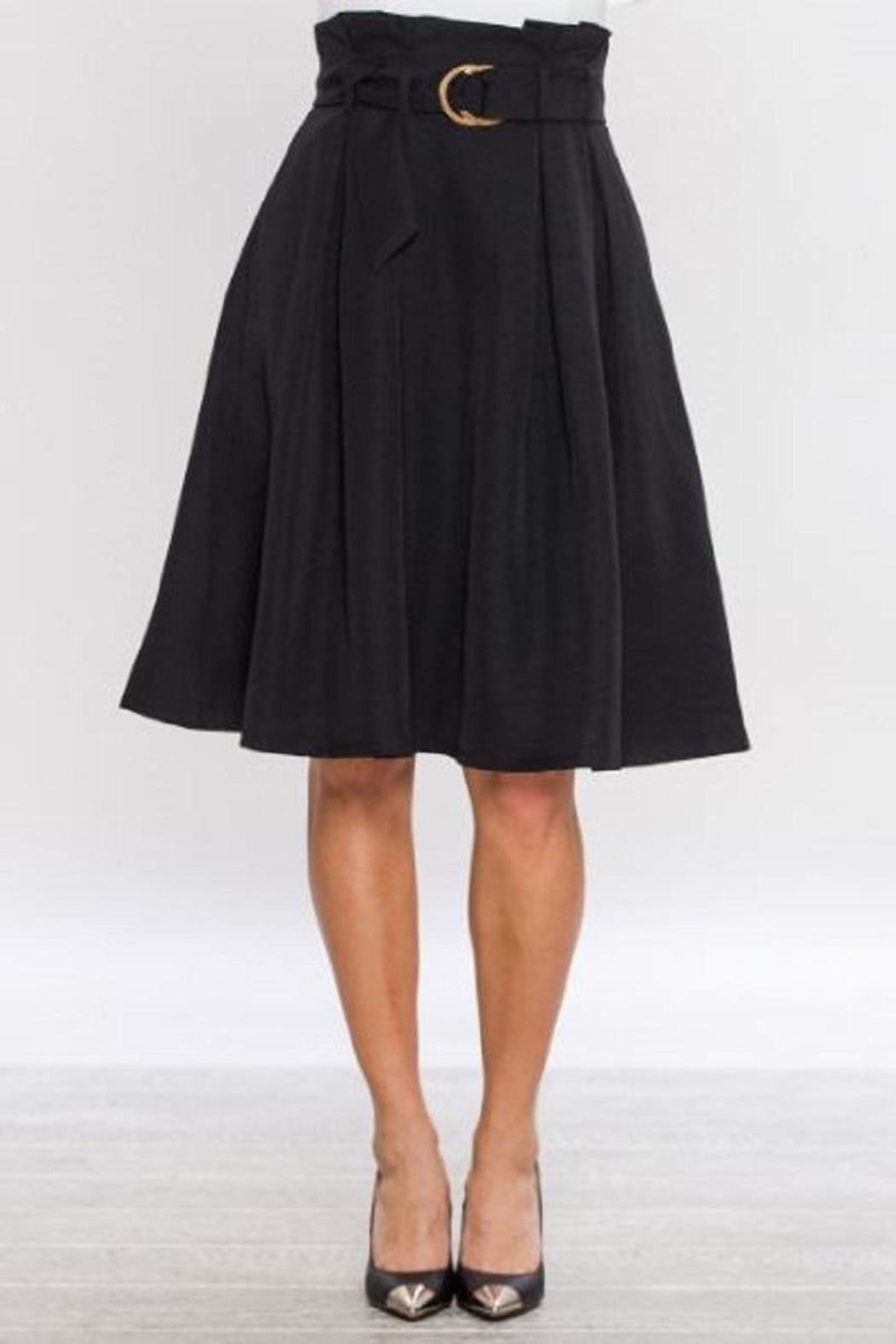 Jealous Tomato Belted A-Line Skirt - Front Cropped Image