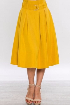 Shoptiques Product: Belted A-Line Skirt