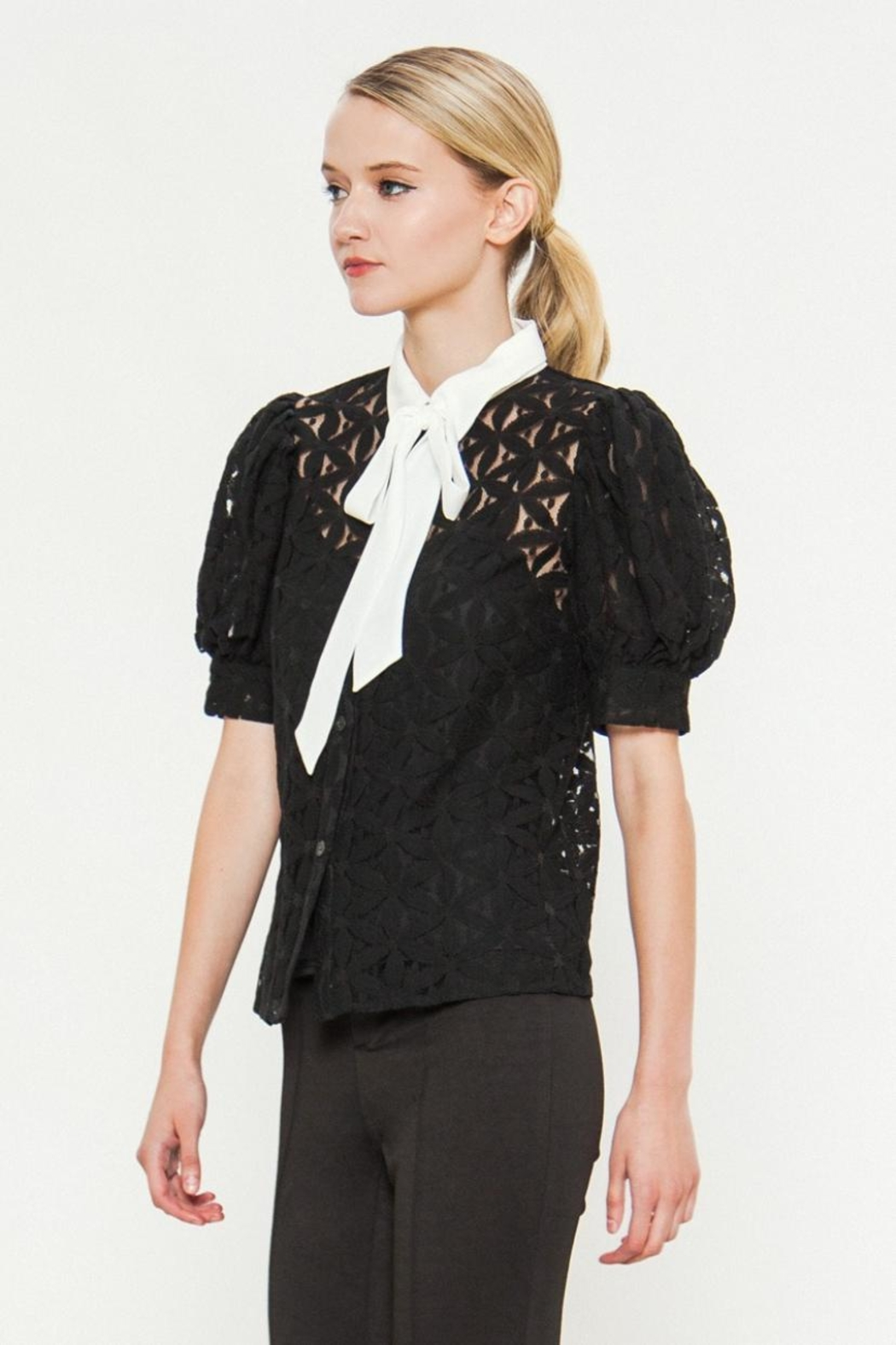 Jealous Tomato Floral Embroidered Top - Main Image