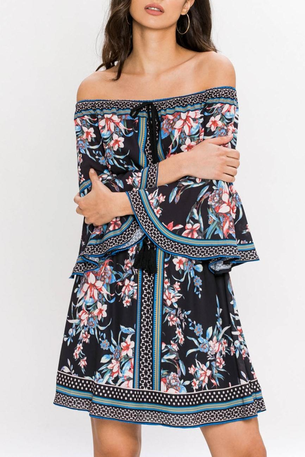 Jealous Tomato Floral Off-Shoulder Dress - Main Image