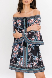 Jealous Tomato Floral Off-Shoulder Dress - Front cropped