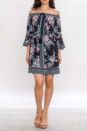 Jealous Tomato Floral Off-Shoulder Dress - Side cropped