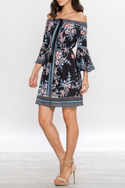 Jealous Tomato Floral Off-Shoulder Dress - Back cropped