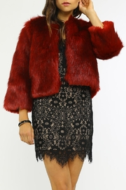 Jealous Tomato Fur Cocktail Jacket - Front full body