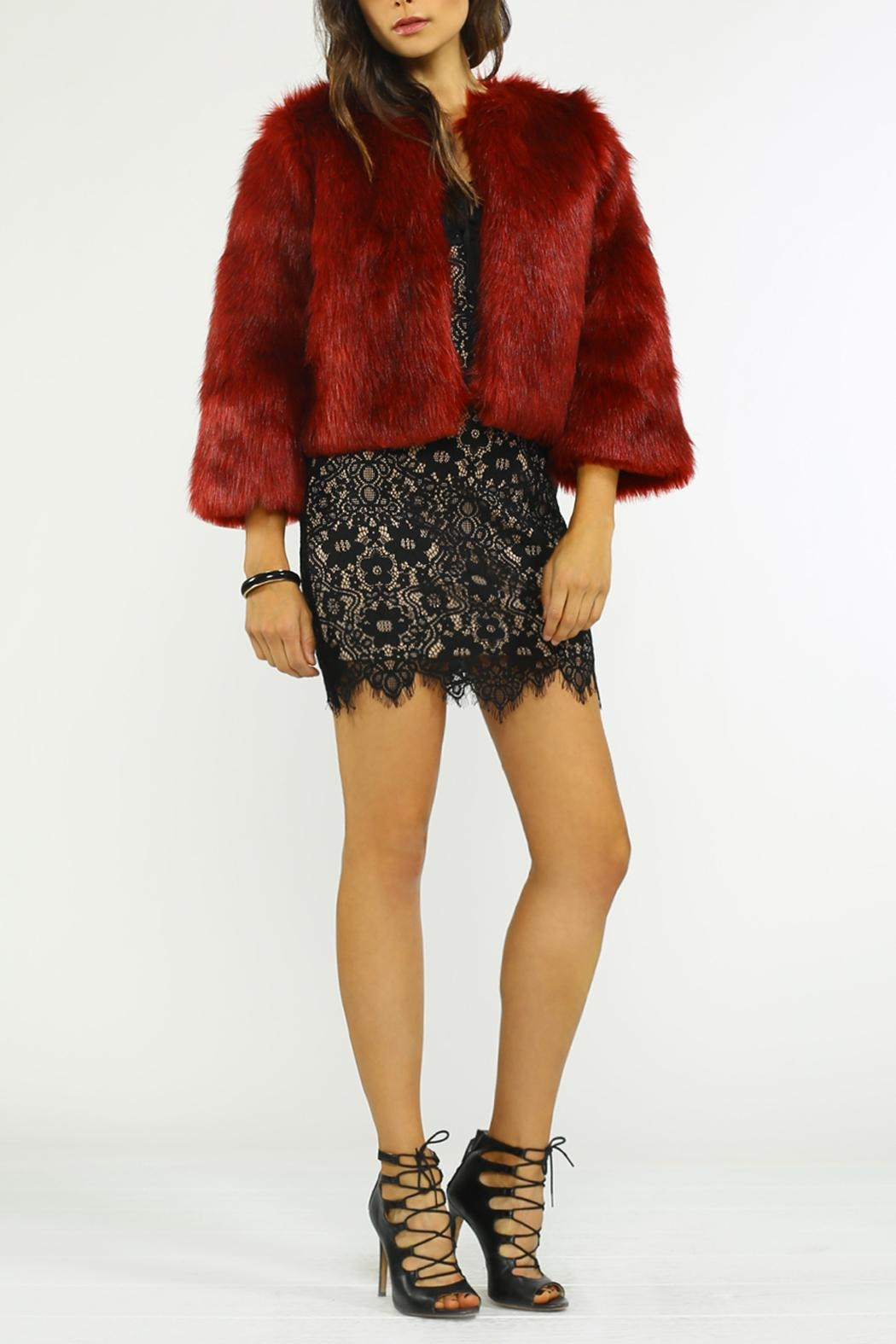 Jealous Tomato Fur Cocktail Jacket - Front Cropped Image