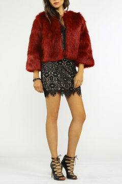 Jealous Tomato Fur Cocktail Jacket - Product List Image