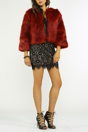 Jealous Tomato Fur Cocktail Jacket - Front cropped