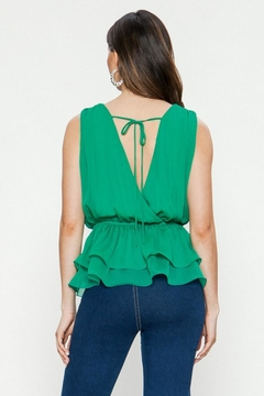 Jealous Tomato Green Layered Top - Alternate List Image