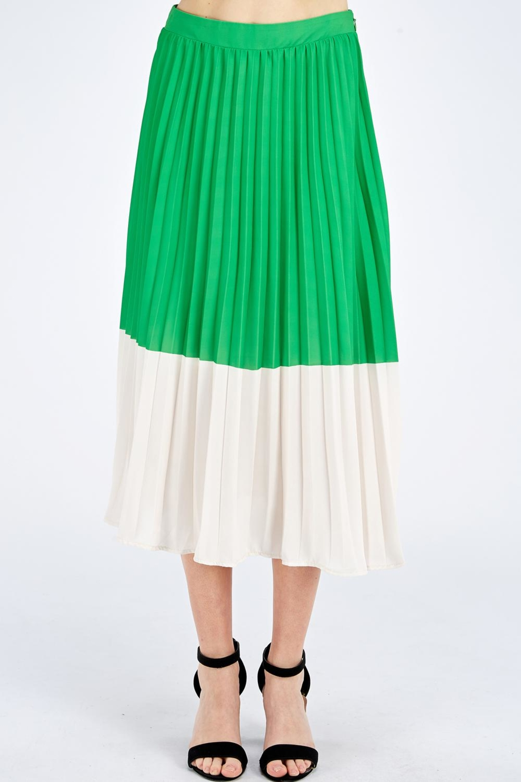 Jealous Tomato Green Pleated Skirt - Main Image