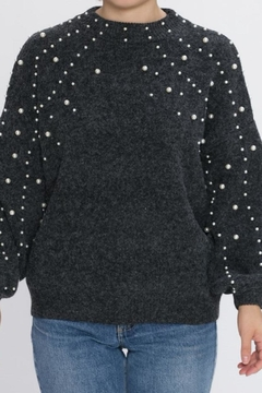 Shoptiques Product: Grey Pearl Sweater