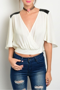 Jealous Tomato Ivory Crop Top - Product List Image