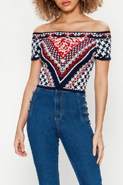 Jealous Tomato Knitted Crop Top - Front cropped