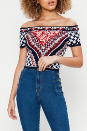 Jealous Tomato Knitted Crop Top - Front full body