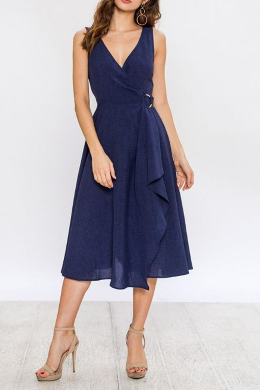 Jealous Tomato Navy Wrap Dress - Main Image