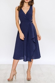 Jealous Tomato Navy Wrap Dress - Front cropped
