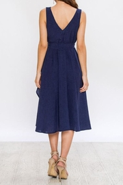 Jealous Tomato Navy Wrap Dress - Back cropped