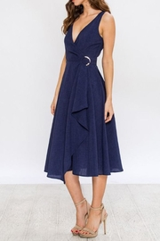 Jealous Tomato Navy Wrap Dress - Front full body