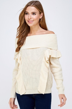 Shoptiques Product: Off Shoulder Sweater