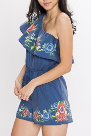 Jealous Tomato One Shoulder Floral Romper - Front full body