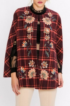 Jealous Tomato Plaid Embroidered Cape - Product List Image