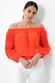 Jealous Tomato Pleated Off-The-Shoulder Top - Front cropped