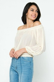 Jealous Tomato Pleated Off-The-Shoulder Top - Side cropped