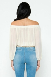 Jealous Tomato Pleated Off-The-Shoulder Top - Back cropped