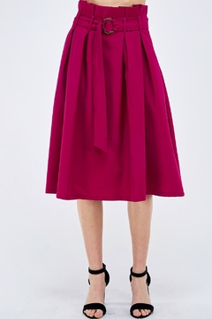 Jealous Tomato Plum Paperbag Skirt - Product List Image