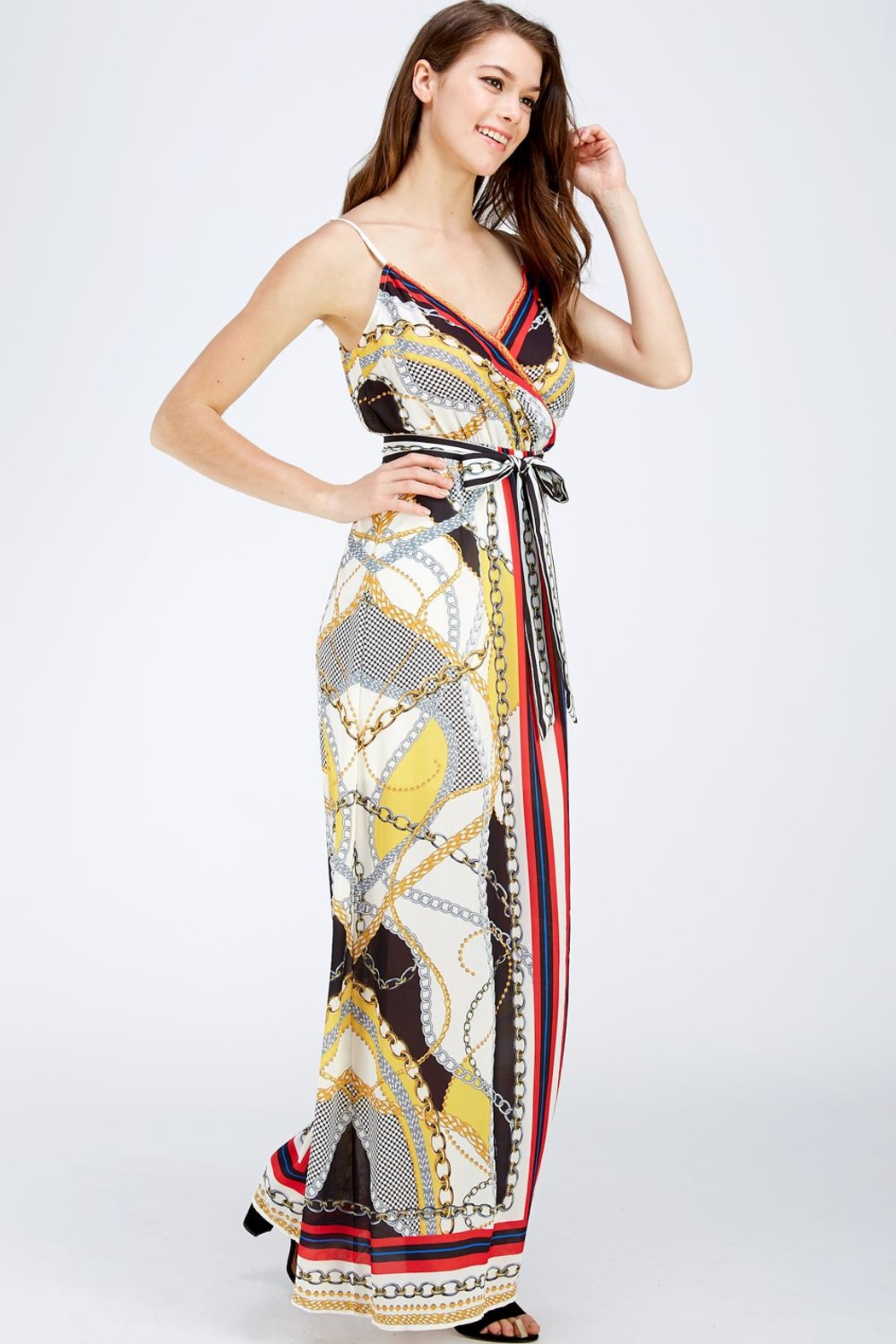 Jealous Tomato Printed Maxi Dress - Front Full Image