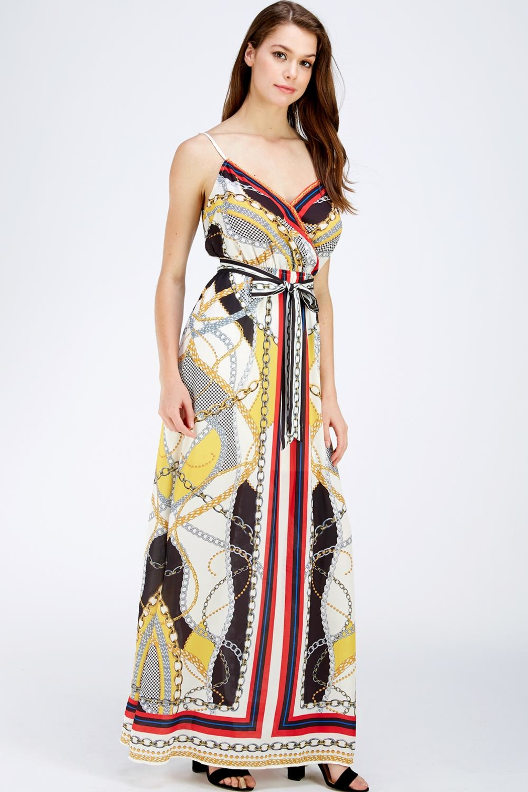 Jealous Tomato Printed Maxi Dress - Side Cropped Image