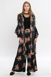 Jealous Tomato Printed Wide Leg Pants - Front full body