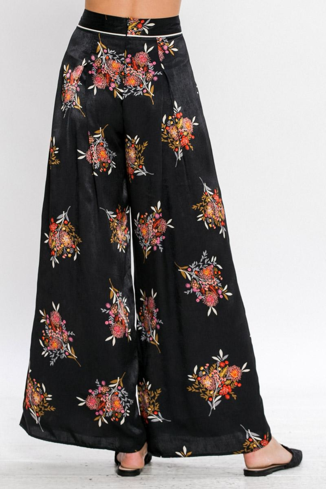 Jealous Tomato Printed Wide Leg Pants - Front Cropped Image