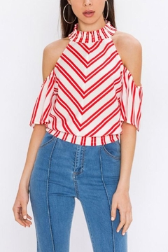 Shoptiques Product: Red Stripe Top