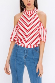 Jealous Tomato Red Stripe Top - Product Mini Image