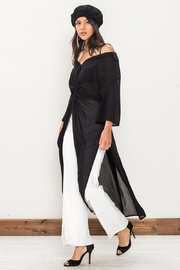 Jealous Tomato Sheer Knot Top - Side cropped