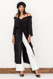 Jealous Tomato Sheer Knot Top - Front cropped