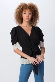 Jealous Tomato Short Puff-Sleeve Top - Product Mini Image