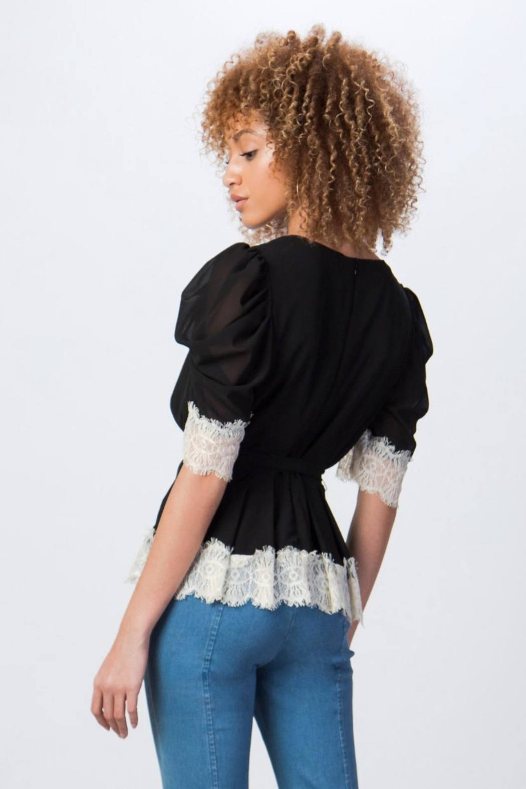 Jealous Tomato Short Puff-Sleeve Top - Front Full Image