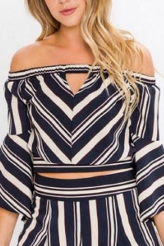 Jealous Tomato Striped Crop Top - Product List Image