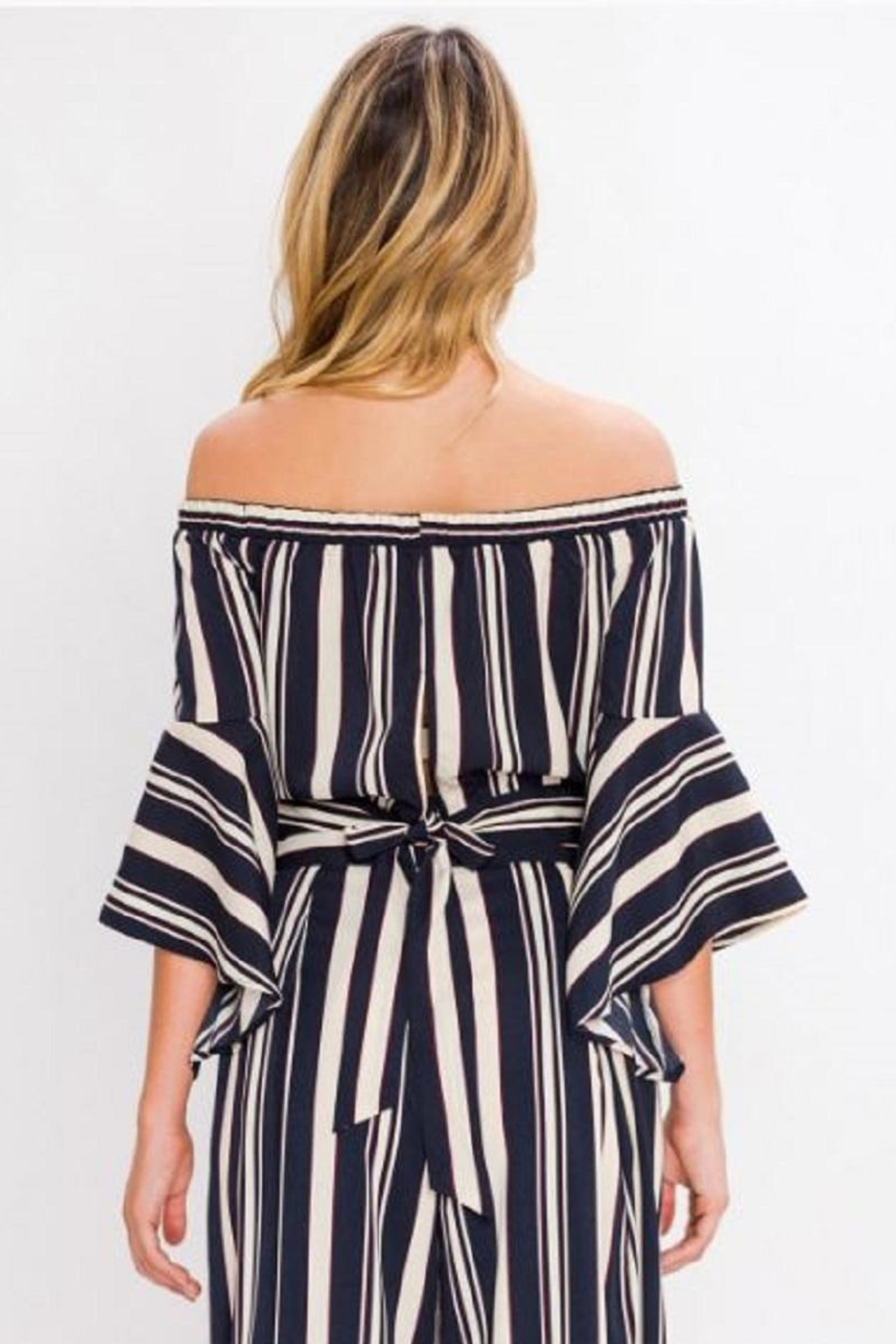 Jealous Tomato Striped Crop Top - Front Full Image