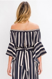 Jealous Tomato Striped Crop Top - Front full body