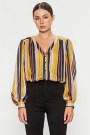 Jealous Tomato Striped Button Blouse - Product Mini Image