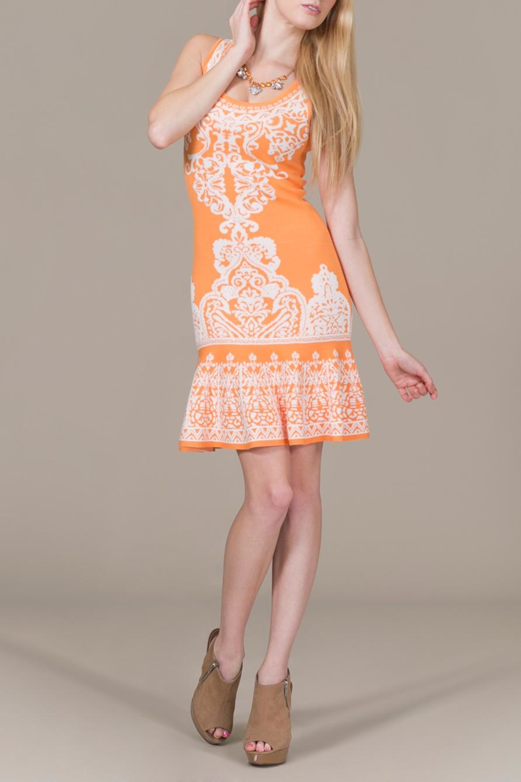 Jealous Tomato Tangerine Dress - Front Full Image