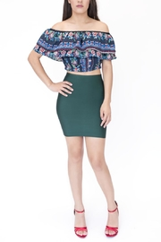 Jealous Tomato Off Shoulder Cropped Top - Product Mini Image
