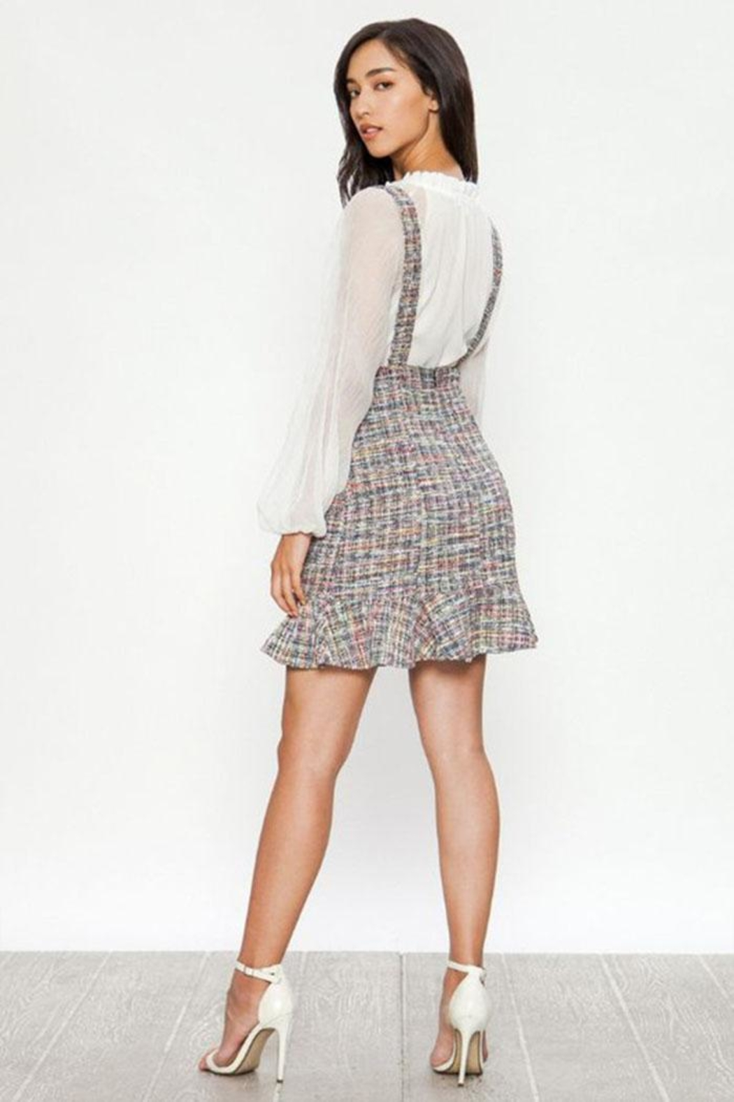 Jealous Tomato Tweed Overall Skirt - Front Full Image